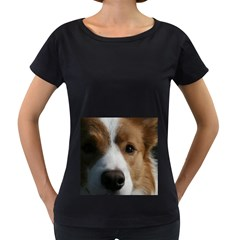 Red Border Collie Women s Loose-Fit T-Shirt (Black)