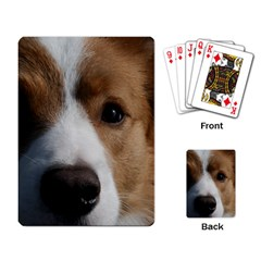 Red Border Collie Playing Card