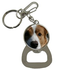 Red Border Collie Button Necklaces