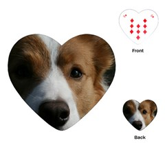 Red Border Collie Playing Cards (Heart)