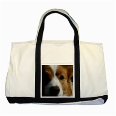 Red Border Collie Two Tone Tote Bag