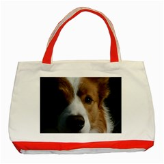Red Border Collie Classic Tote Bag (Red)