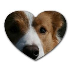Red Border Collie Heart Mousepads