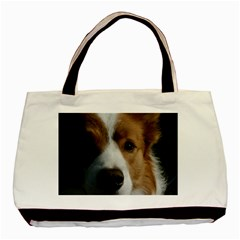Red Border Collie Basic Tote Bag (Two Sides)