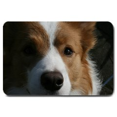 Red Border Collie Large Doormat