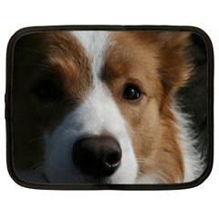 Red Border Collie Netbook Case (Large)