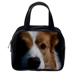 Red Border Collie Classic Handbags (One Side)