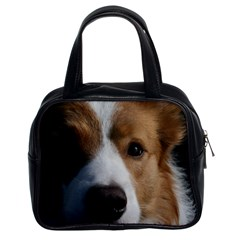 Red Border Collie Classic Handbags (2 Sides)