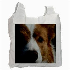 Red Border Collie Recycle Bag (One Side)