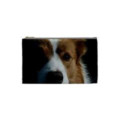 Red Border Collie Cosmetic Bag (Small)