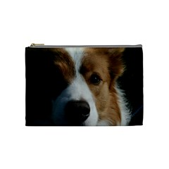 Red Border Collie Cosmetic Bag (Medium)