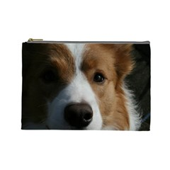 Red Border Collie Cosmetic Bag (Large)
