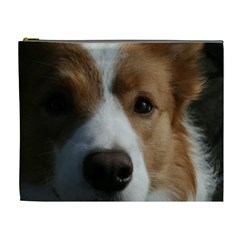 Red Border Collie Cosmetic Bag (XL)