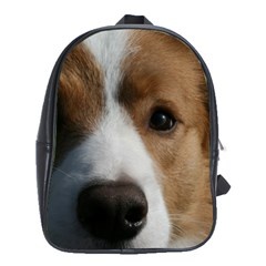 Red Border Collie School Bags(Large)