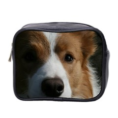 Red Border Collie Mini Toiletries Bag 2-Side