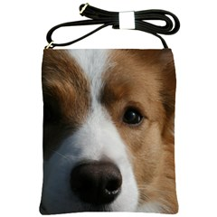 Red Border Collie Shoulder Sling Bags