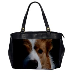 Red Border Collie Office Handbags