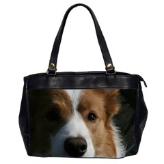 Red Border Collie Office Handbags (2 Sides)