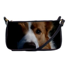 Red Border Collie Shoulder Clutch Bags