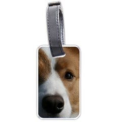 Red Border Collie Luggage Tags (One Side)
