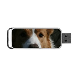 Red Border Collie Portable USB Flash (One Side)