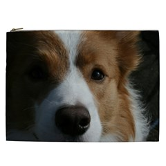 Red Border Collie Cosmetic Bag (XXL)