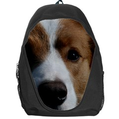 Red Border Collie Backpack Bag