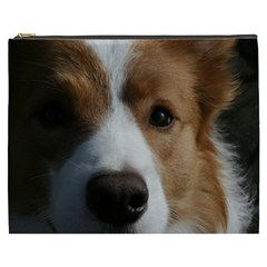 Red Border Collie Cosmetic Bag (XXXL)