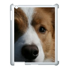 Red Border Collie Apple iPad 3/4 Case (White)
