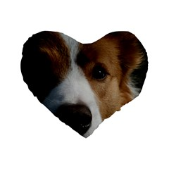 Red Border Collie Standard 16  Premium Heart Shape Cushions