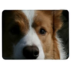 Red Border Collie Samsung Galaxy Tab 7  P1000 Flip Case