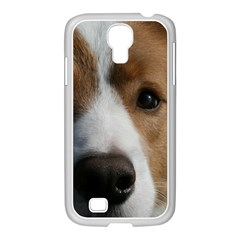 Red Border Collie Samsung GALAXY S4 I9500/ I9505 Case (White)