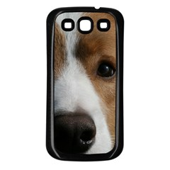 Red Border Collie Samsung Galaxy S3 Back Case (Black)