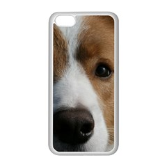 Red Border Collie Apple iPhone 5C Seamless Case (White)