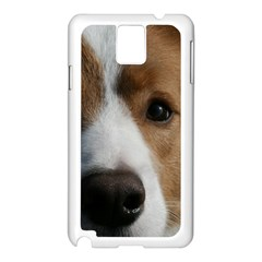 Red Border Collie Samsung Galaxy Note 3 N9005 Case (White)