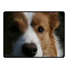 Red Border Collie Double Sided Fleece Blanket (Small)