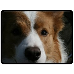 Red Border Collie Double Sided Fleece Blanket (Large)