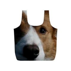 Red Border Collie Full Print Recycle Bags (S)