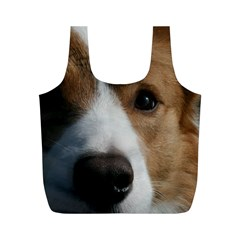 Red Border Collie Full Print Recycle Bags (M)