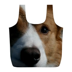 Red Border Collie Full Print Recycle Bags (L)