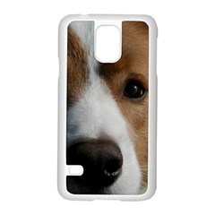 Red Border Collie Samsung Galaxy S5 Case (White)