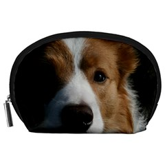 Red Border Collie Accessory Pouches (Large)