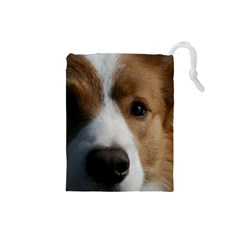 Red Border Collie Drawstring Pouches (Small)