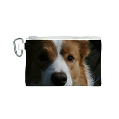 Red Border Collie Canvas Cosmetic Bag (S)