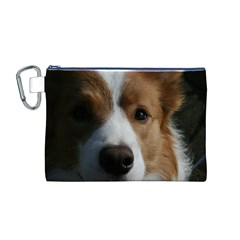 Red Border Collie Canvas Cosmetic Bag (M)