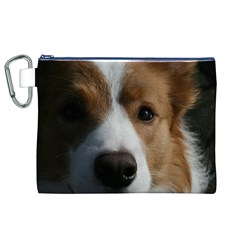 Red Border Collie Canvas Cosmetic Bag (XL)