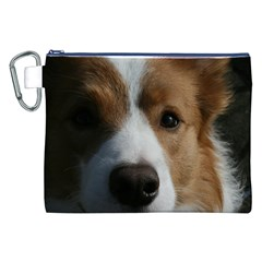 Red Border Collie Canvas Cosmetic Bag (XXL)