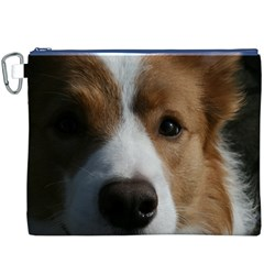 Red Border Collie Canvas Cosmetic Bag (XXXL)