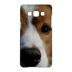 Red Border Collie Samsung Galaxy A5 Hardshell Case