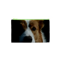 Red Border Collie Cosmetic Bag (XS)